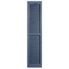 Alpha 2-Pack Blue Louvered Vinyl Exterior Shutters (Common: 14-in x 59-in; Actual: 13.75-in x 58.88-in)