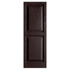 Alpha 2-Pack Chocolate Raised Panel Vinyl Exterior Shutters (Common: 15-in x 43-in; Actual: 14.75-in x 42.44-in)
