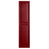 Alpha 2-Pack Cranberry Raised Panel Vinyl Exterior Shutters (Common: 15-in x 75-in; Actual: 14.75-in x 74.13-in)