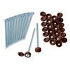 Severe Weather 12-Pack Exterior Shutter Screw and Hinge Cap Set