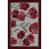 Style Selections 24-in x 36-in Rectangular BeigeFloral Accent Rug