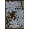 Style Selections 24-in x 36-in Rectangular Brown Floral Accent Rug