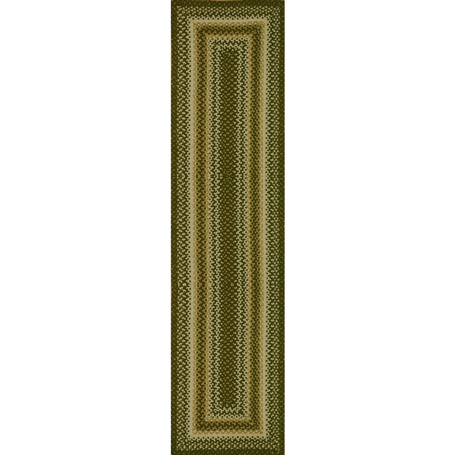 Rug Runner At Lowes: Shop Style Selections Braided Rug Green Indoor/Outdoor