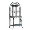 Sunjoy 72.8-in Black Indoor/Outdoor Half-Round Steel Plant Stand