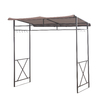 Sunjoy Linea Brown Steel Rectangle Grill Gazebo (Exterior: 4.7-ft x 7-ft; Foundation: 7-ft x 4.7-ft)