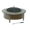 Sunjoy 40-in W Bronze Steel Wood-Burning Fire Pit