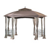 Sunjoy Cardiff Brown Steel Rectangle Gazebo (Exterior: 11-ft x 13-ft; Foundation: 13-ft x 11-ft)