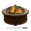 Sunjoy 36-in W Dark Brown Steel Wood-Burning Fire Pit