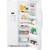 GE 25.9-cu ft Side-By-Side Refrigerator with Single Ice Maker (White) ENERGY STAR