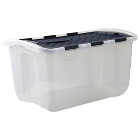 Style Selections 6.5-Gallon Clear Tote with Hinged Lid