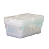 Style Selections 3-Pack 6.5-Quart Clear Shoe Box with Standard Snap Lids