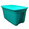 Style Selections 30-Gallon Green Tote with Standard Snap Lid