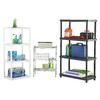 Blue Hawk 48-in H x 22-in W x 14.25-in D 4-Tier Plastic Freestanding Shelving Unit