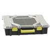Centrex Plastics, LLC 19.043-in W x 4.276-in D Black Plastic Bin