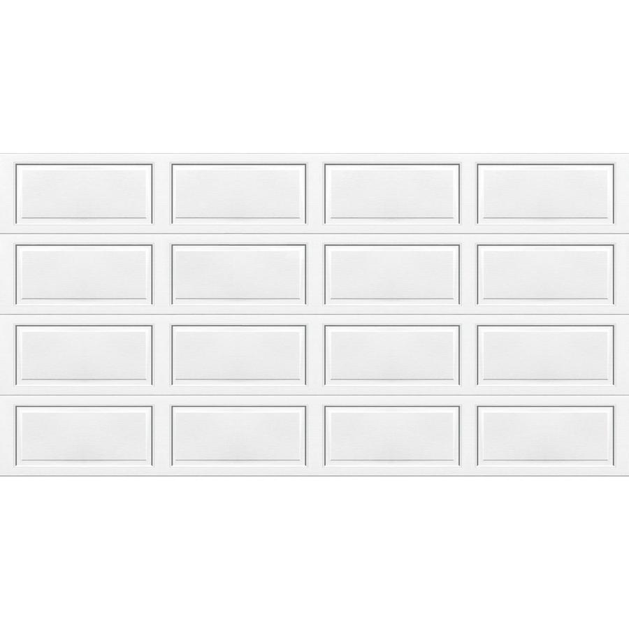 Shop wayne dalton 9100 series 16 ft x 7 ft insulated white for 16 ft x 7 ft garage door