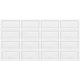 shop wayne dalton 9100 series 16 ft x 7 ft insulated white