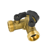 Yardsmith Brass 2-Way Restricted-Flow Water Shut-Off