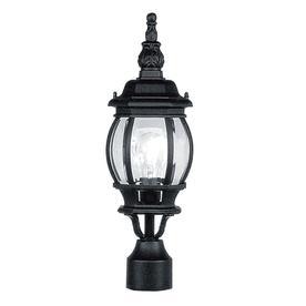 Livex Lighting Frontenac 18-1/2-in Black Pier Mount Light