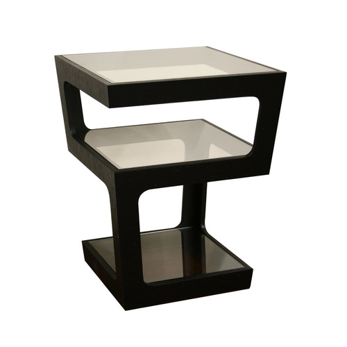 baxton studio black modern square end table from lowes