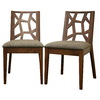 Baxton Studio Set of 2 Baxton Brown Side Chairs