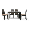 Baxton Studio Baxton Dark Brown 5-Piece Dining Set