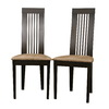 Baxton Studio Set of 2 Baxton Dark Walnut Dining Chairs