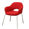 Baxton Studio Red Club Chair