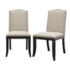 Baxton Studio Set of 2 Baxton Beige Dining Chairs