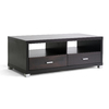 Baxton Studio Dark Brown Composite Rectangular Coffee Table