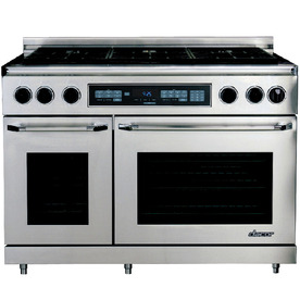 Dacor 48-in 6-Burner 4.6 cu ft Self-Cleaning Convection Dual Fuel Range (Stainless Steel)