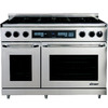 Dacor Discovery 6-Burner Self-Cleaning Convection Single Oven Dual Fuel Range (Stainless Steel with Chrome Trim) (Common: 48-in; Actual 47.875-in)