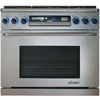 Dacor Discovery 6-Burner Self-Cleaning Convection Single Oven Dual Fuel Range (Stainless Steel with Chrome Trim) (Common: 36-in; Actual 35.875-in)