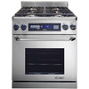 Dacor Discovery Self-Cleaning Convection Single Oven Dual Fuel Range (Stainless Steel with Chrome Trim) (Common: 30-in; Actual 29.875-in)