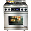 Dacor Distinctive Self-Cleaning Convection Single Oven Dual Fuel Range (Stainless Steel) (Common: 30-in; Actual 29.875-in)