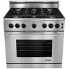 Dacor 36-in 6-Burner 5.4 cu ft Slide-In Convection Gas Range (Stainless Steel)
