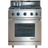 Dacor Renaissance Freestanding 4.15-cu ft Convection Gas Range (Stainless Steel with Chrome Trim) (Common: 30-in; Actual: 29.875-in)