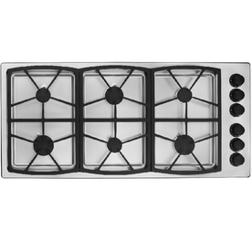 Dacor Classic 6-Burner Gas Cooktop (Stainless Steel) (Common: 46-in; Actual: 46-in)