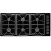 Dacor Classic 6-Burner Gas Cooktop (Black) (Common: 46-in; Actual: 46-in)
