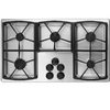 Dacor Classic 5-Burner Gas Cooktop (Stainless Steel) (Common: 36-in; Actual: 36-in)
