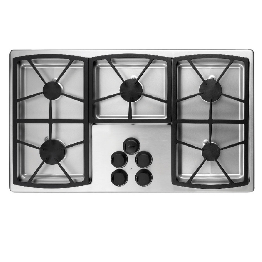 Shop dacor classic 5 burner gas cooktop stainless steel for Dacor cooktop