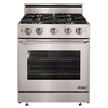 Dacor Distinctive Freestanding 4.8-cu ft Convection Gas Range (Stainless Steel with Chrome Trim) (Common: 30; Actual: 29.87-in)