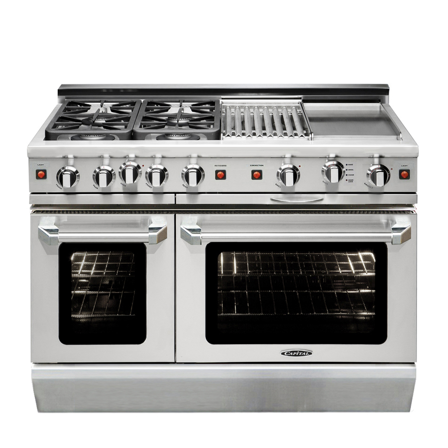 Gas Oven: Slide In Gas Range With Double Oven