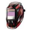 Smarter Tools Auto Darkening Variable Shade Black/Red Welding Helmet