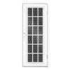 TITAN Classic French Powder-Coat White Aluminum Recessed Mount Security Door (Common: 30-in x 80-in; Actual: 31.5-in x 81.563-in)