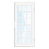 TITAN Classic French Powder-Coat White Aluminum Recessed Mount Single Security Door (Common: 36-in x 80-in; Actual: 37.5-in x 81.563-in)