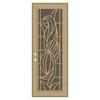TITAN Elegante II Powder-Coat Desert Sand Aluminum Surface Mount Single Security Door (Common: 36-in x 96-in; Actual: 38.5-in x 97.563-in)