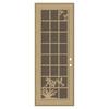 TITAN French Hummingbird Powder-Coat Desert Sand Aluminum Surface Mount Security Door (Common: 36-in x 96-in; Actual: 38.5-in x 97.563-in)