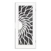 TITAN Sunfire Powder-Coat White Aluminum Surface Mount Security Door (Common: 36-in x 80-in; Actual: 38.5-in x 81.563-in)