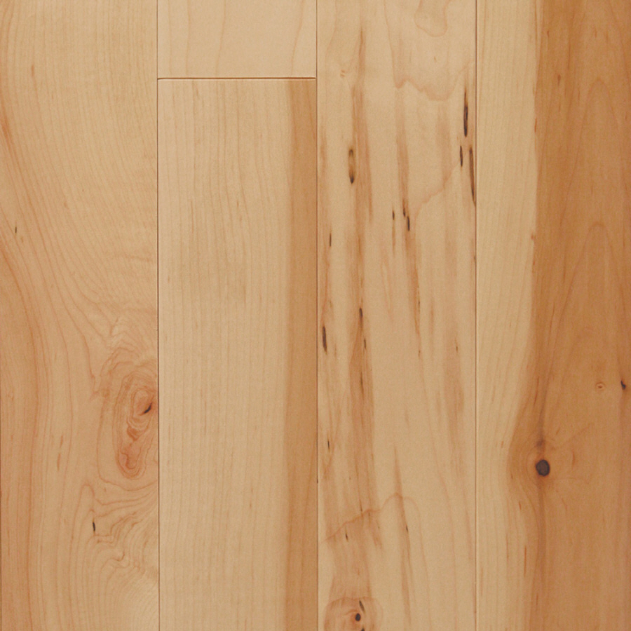 Shop mullican flooring nature 4 in w prefinished maple for Prefinished flooring