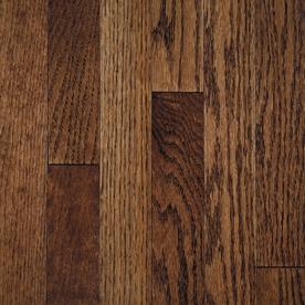 Mullican Flooring 0.75-in Oak Hardwood Flooring Sample (Tuscan Brown)